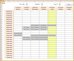 Weekly Calendar Excel Spreadsheet Spreadsheet Collections