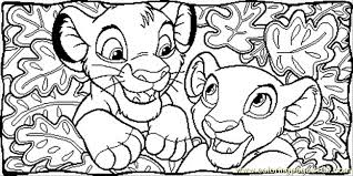 Small Picture Nala And Simba Together Coloring Page Free The Lion King