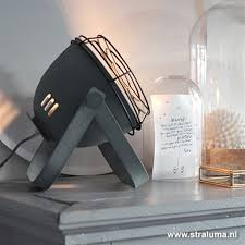 Stoere Industriële Tafellamp Beton Look Straluma