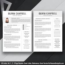 Modern Resume Cover Letters Modern Resume Template Cv Template Professional And Creative