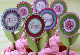Mothers Day Cupcake Toppers Hoosier Homemade