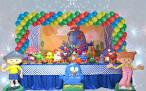 Mesa decorada galinha pintadinha sp