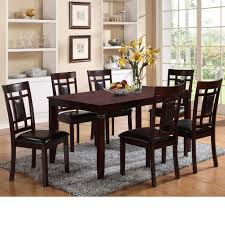 foxy low back dining room chairs on crown mark paige 7 piece table and chair set with block feets