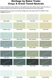 Green Paint Color Chart Grey And Green Shades From The Dulux Heritage Colour Chart