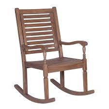 loon peak imene solid acacia wood patio rocking chair reviews pertaining to idea 15