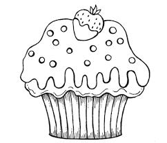 Cupcake Drawing Free Download On Ayoqqorg