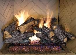 fake fireplace logs gas the home depot for