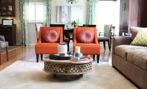 orange living room furniture. orange transitional chairs and rustic coffee table traditionallivingroom living room furniture e