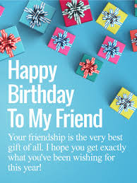 friendship is the best gift happy birthday wishes card for friends