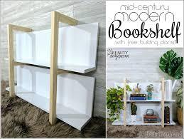 mid century modern bookshelf. FREE Building Plans For This Mid-Century Modern Bookshelf With Clean Lines! {Reality Mid Century D