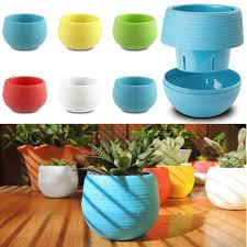 office flower pots. Mini Round Plastic Plant Flower Pots Home Garden Office Desk Decor Planter E