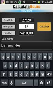 Calculate Work Hours Timesheet Amazon Co Uk Appstore For