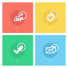 Chart Icon Download Chart Icon Gear Icon Tick Icon Mail Icon With Magnifying