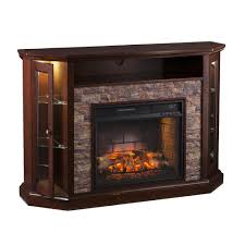 Reamrock Infrared Electric Fireplace Media Stand with Convertible Corner