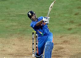 Image result for dhoni helicopter shot in world cup final
