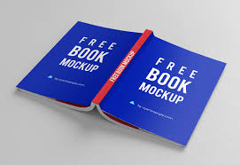 isometric cover back book mockup psd open book mockup