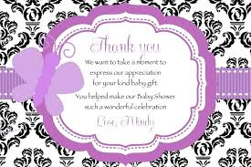 Baby Gift Thank You Note Thank You Note Template Baby Shower Danielmelo Info