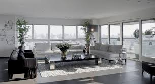 modern interior design apartments. Living Area Of Modern White And Gray Apartment Interior Design Apartments L