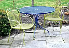 large size of iron patio table and 2 chairs wrought metal outdoor garden two tone 3