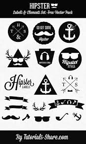 have a look at this list of 10 free hipster vectors sets there are tons of uses for these retro modern vectors hipster design