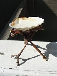 birdbath made out of twigs wire and a seas cute maybe a erfly on the edge instead of bird or a tiny bird diy fairy gardens