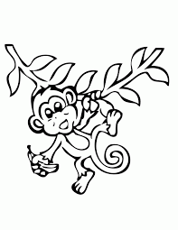 Small Picture Free Printable Monkey Coloring Pages H M Coloring Pages