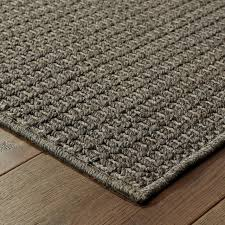seamist woven texture charcoal and gray area rug contemporary outdoor rugs by newcastle home