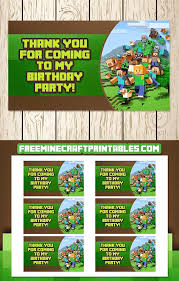 printable minecraft invitations birthday