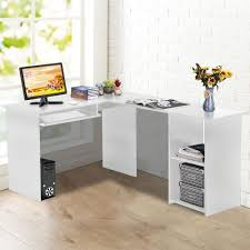 modern corner office desk. Large White Corner Office Desk Workstation Study Unit Modern Pc Computer Table E