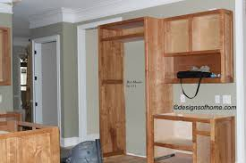 Kitchen. Small Kitchen Design And Decoration Using Light Brown Rustic  Cherry Kitchen Cabinets Including Soft