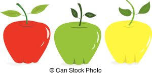 green and red apples clipart. colorful apples - vector, red,green and yellowgreen red clipart l