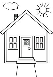 House Coloring Page Gingerbread House Colouring Pages Pdf