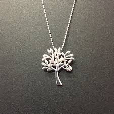 picture of sterling silver tree of life pendant necklace