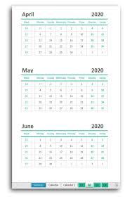 Flexible Yearly Calendar Free Excel Printable Calendar