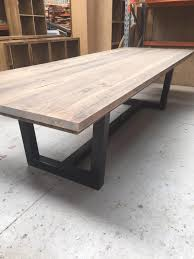 recycled wooden furniture. 3m Recycled Timber Dining Table With Sealled Natural Grey Finish. Wooden Furniture