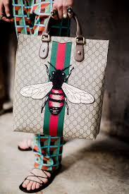 gucci bags fall 2017. backstage at the gucci men\u0027s fall winter 2016 fashion show. insect bag inspired by collection. bags 2017 l