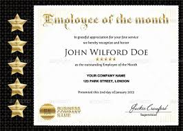 Printable Employee Of The Month Certificates 30 Employee Of The Month Download Pryncepality