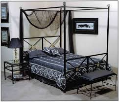 Queen Canopy Bed With Cathedral Back By Magnolia Home By Joanna Canopy Iron Bed