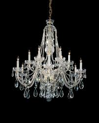 crystorama traditional crystal 12 light polished brass crystal chandelier dd in clear spectra crystal lighting etc