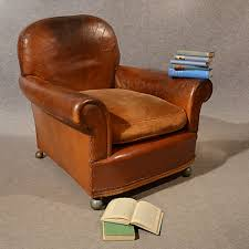 antique leather armchair vintage club easy chair victorian english