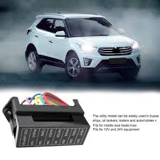 online get cheap wiring fuse block aliexpress com alibaba group Basic Boat Wiring Bus 12v devices block holder circuit car boat bus trailers atc ato blade fuse box block 2 input wire automobile electric 8 way fuse box Basic 12 Volt Boat Wiring