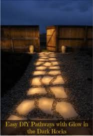 diy outdoor lighting. DIY Glow In The Dark Pathway Rocks Diy Outdoor Lighting G