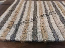 sge rectangular woolen braided rug
