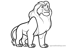 Simba Il Re Leone Disegno Da Colorare