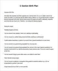 Why Is It Important To Have A Birth Plan Sample Birth Plan 11 Examples In Word Pdf