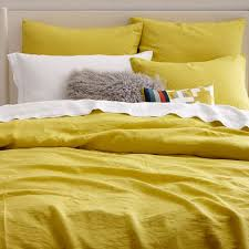Belgian Flax Linen Duvet Cover Shams Citrus Yellow West Elm For ... & 236 Best Images On Pinterest Quilt Pertaining To Attractive Home Yellow  Duvet Cover Queen Designs ... Adamdwight.com