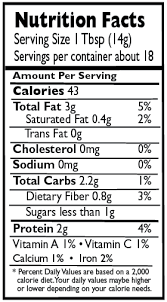 nutrition information panel here