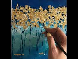 add gold leaf on your acrylic paintings