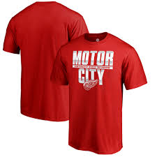 detroit red wings fanatics branded hometown collection local t shirt red com