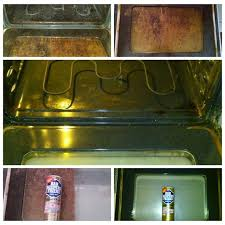 tuesdays tips use barkeepersfriend to clean the inside of your oven doors as you can see it works like a charm cleaning tips kitchen since1882